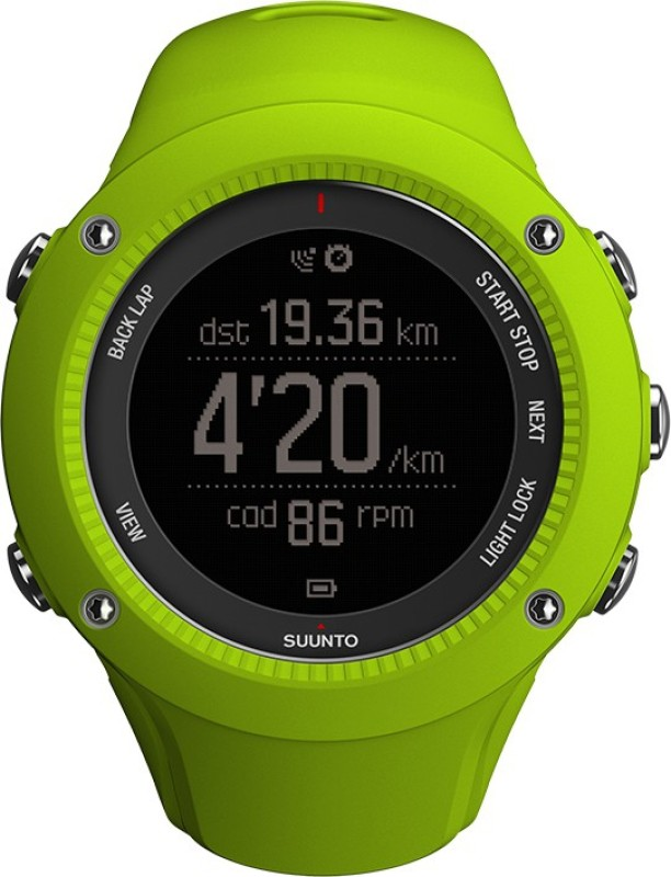 Suunto SS021260000 Ambit3 Run Digital Lime Smartwatch(Green Strap)