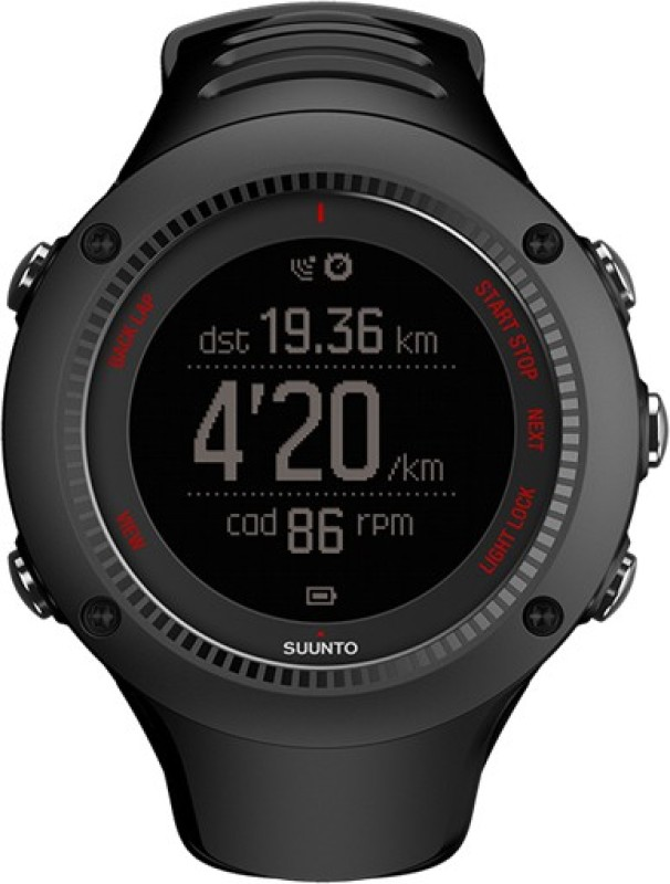 Suunto SS021256000 Ambit3 Run Digital Smartwatch(Black Strap)
