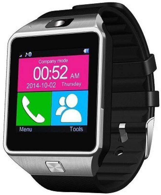 ShopAIS T30 Silver Bluetooth Smartwatch(Multicolor Strap)