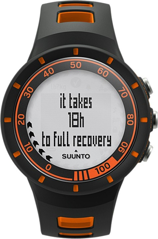 Suunto SS018154000 Quest Digital Smartwatch(Black, Orange Strap)