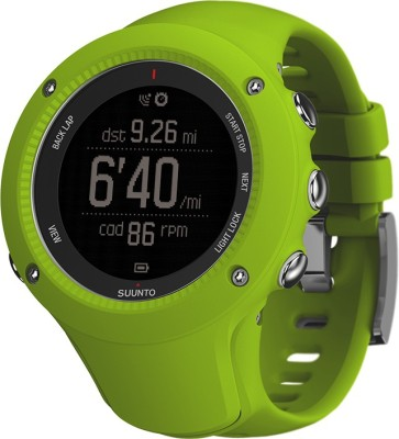 Suunto SS021261000 Ambit3 Run HR Digital Lime Smartwatch