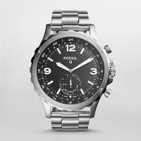 Fossil Q Nate Hybrid (For Men) Smartwatch(Silver Strap Regular)