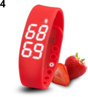 ZVR FLIPFIT Fitness BanD 3D PeDometer Sleep Temperature Calorie Monitor Time Display Silicon Without SpeeDometer Smartwatch(Red Strap Regular)