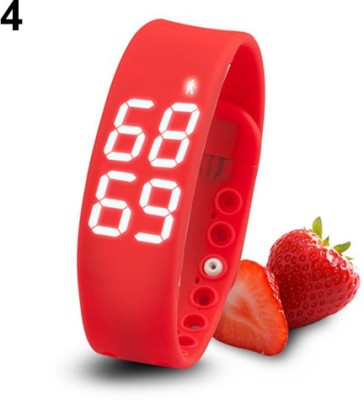 ZVR FLIPFIT Fitness BanD 3D PeDometer Sleep Temperature Calorie Monitor Time Display Silicon Without SpeeDometer Smartwatch