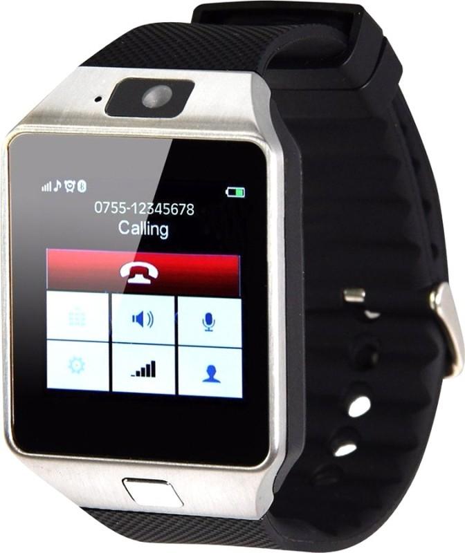 Aja Retail Bluetooth, Sim, Memory Card Slot, Camera Fitness Tracker Black Smartwatch(Black Strap)