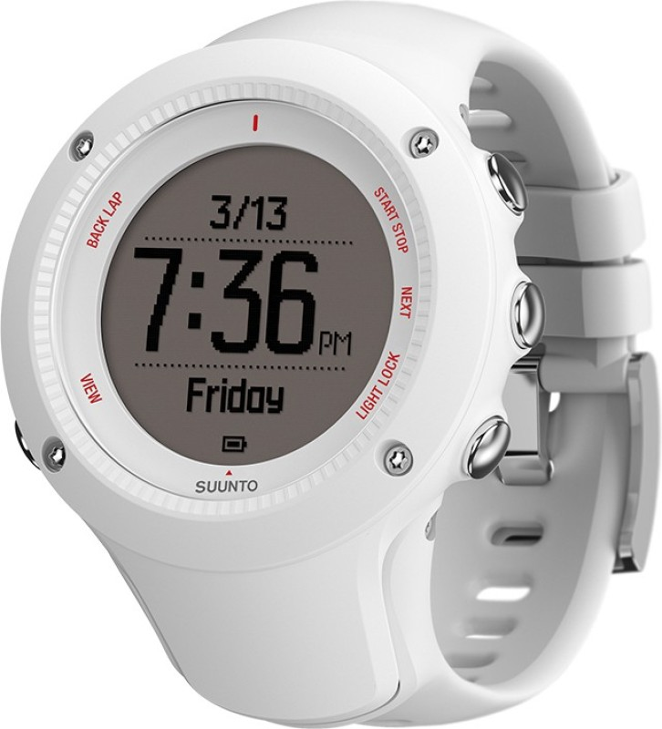 Suunto SS021259000 Ambit3 Run HR Digital White Smartwatch(White Strap)