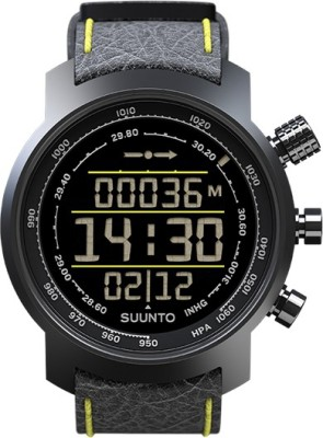 Suunto SS019997000 Elementum Terra Digital Black & Yellow Leather Smartwatch