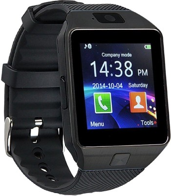 Goospery DZ09-19 Bluetooth with Built-in Sim card and memory card slot Compatible with All Android Mobiles Black Smartwatch(Black Strap Regular) at flipkart