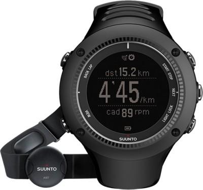 Suunto SS020655000 Ambit2 HR Digital Smartwatch(Black Strap)