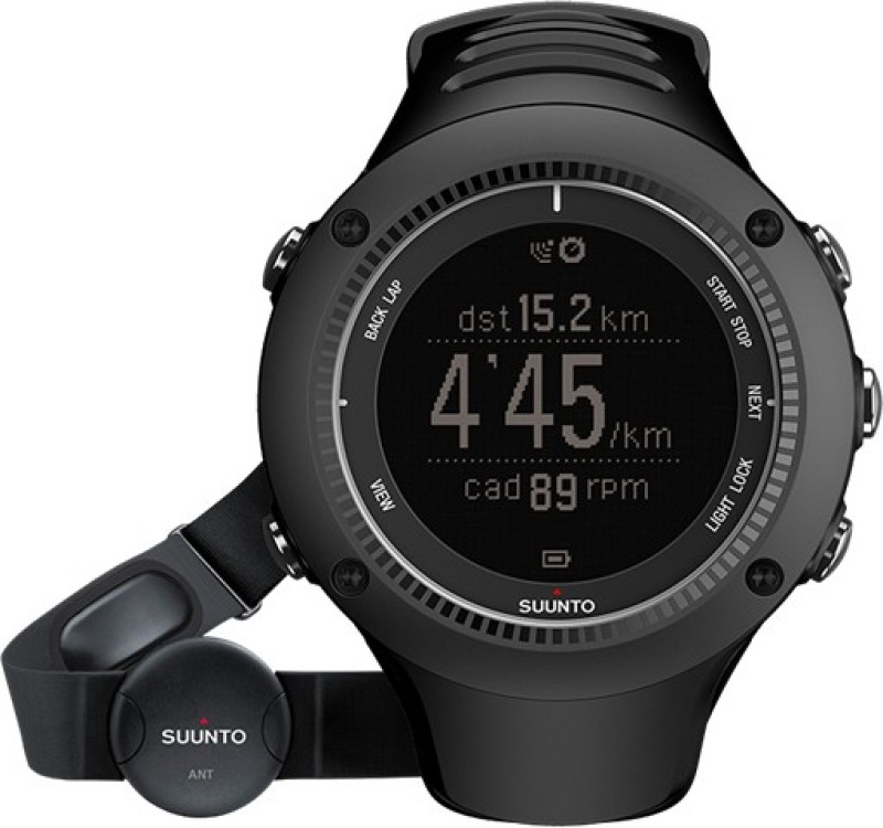 Suunto SS020655000 Ambit2 HR Digital Smartwatch(Black Strap)