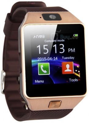 DreamShop GSM SIM Card Camera Video Recorder Expandable to 32GB Fitness Tracker Bluetooth Gold Brwon Smartwatch