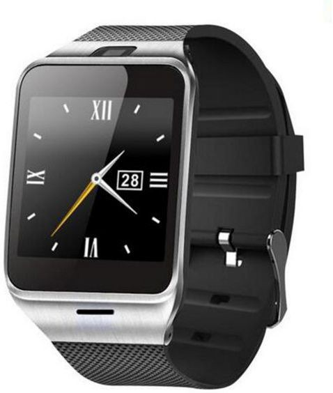 Maya Aplus watch A18 Black Silver Smartwatch(Black Strap Regular)