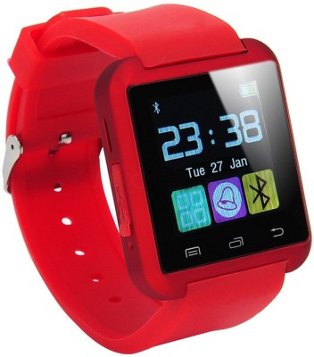 WDS Smart U8 R Compatible with I phone and All Android Devices Bluetooth Red Smartwatch