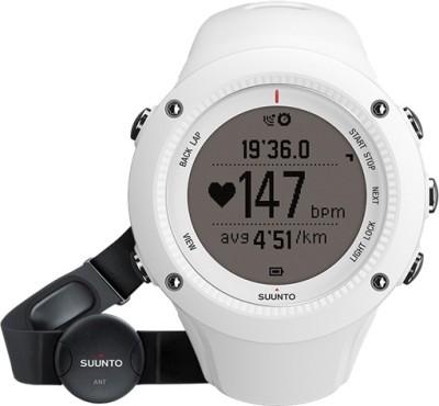 Suunto SS020658000 Ambit2 HR Digital Smartwatch(White Strap)