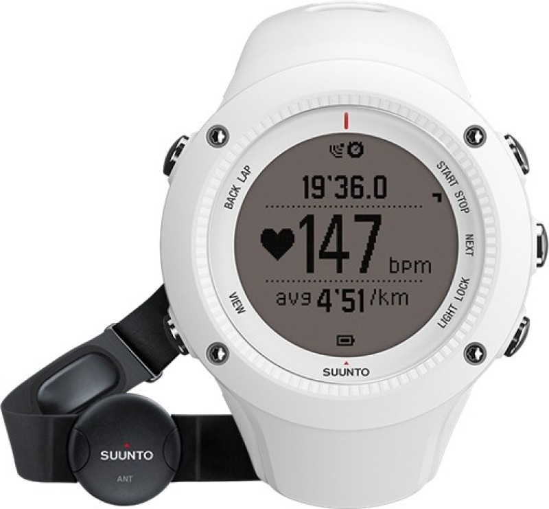 Suunto SS020658000 Ambit2 HR Digital Smartwatch(White Strap)