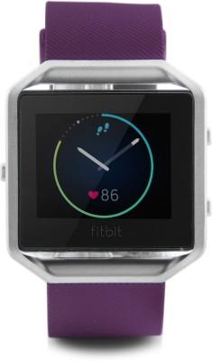 Fitbit Blaze Smart Plum Silver Smartwatch(Purple Strap Large)