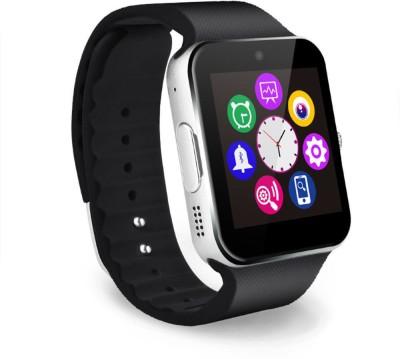 VibeX ™ GT 08 Bluetooth Touch Screen Phone Mate Black, Gold, Silver Smartwatch(Black Strap Regular) at flipkart