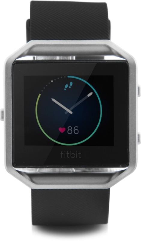 Fitbit Blaze Black Silver Smartwatch(Black Strap Large)