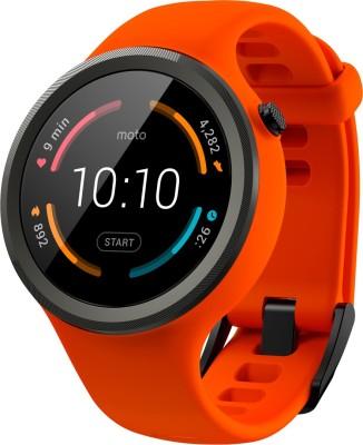 Motorola Moto 360 Sport Orange Smartwatch(Orange Strap Regular) at flipkart