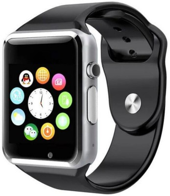 Wokit A1-13 Silver Smartwatch(Black Strap Regular) at flipkart