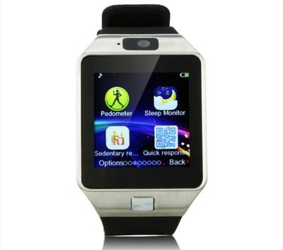 "Influx â""¢ DZ09 Bluetooth Sim Phone with Pedometer Camera Call Reminder Silver Smartwatch"