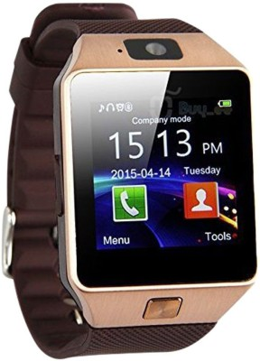 WDS Smart DZ09 S Compatible with I phone and All Android Devices Sim Support Also Brown Smartwatch
