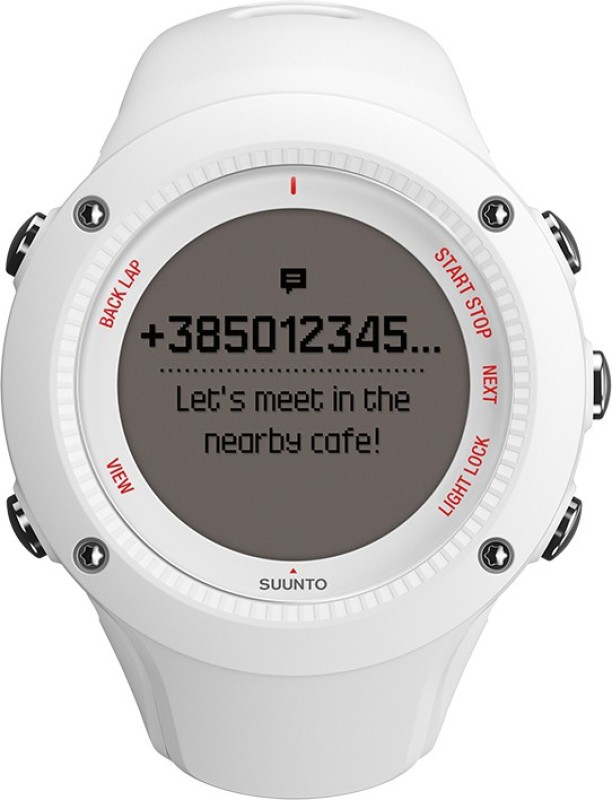 Suunto SS021258000 Ambit3 Run Digital Smartwatch(White Strap)