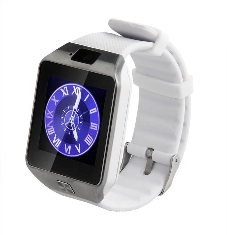Oktata DZ09 Fitness watch with Sim White Smartwatch(White Strap Regular)