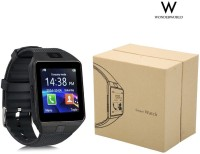 Wonder World ™ Bluetooth Support SIM Card Phone Camera GSM/TF Men Wrist Black Smartwatch(Black Strap Regular)