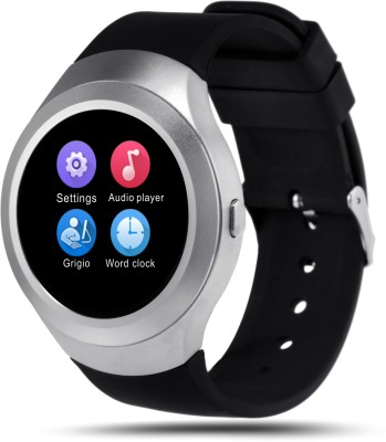 Bingo C5 Silver Absolute Screen Touch With Bluetooth and SIM Enabling Feature Smartwatch