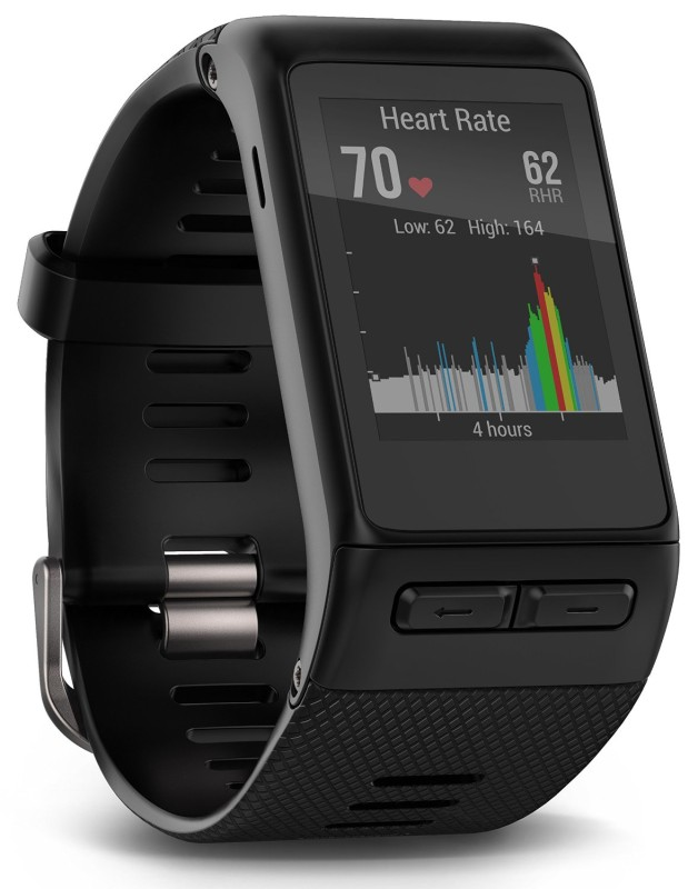 Garmin Vivoactive HR Smartwatch(Black Strap)