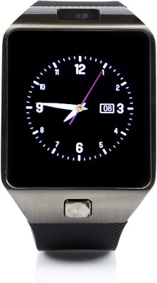 Wonder World ™ Mobile Bluetooth SIM Slot GSM Black Smartwatch(Black Strap Regular) at flipkart