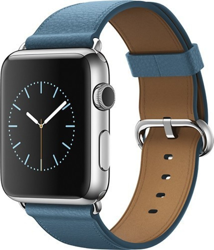 Apple Watch 42 mm Stainless Steel Case with Marine Blue...
