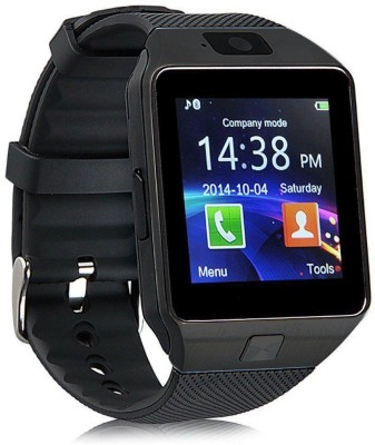 Wonder World ® DZ-09 Mobile GSM-SIM Card & HD Camera Black Smartwatch(Black Strap Regular) at flipkart