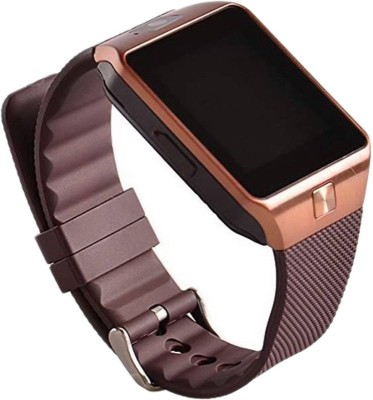 Mediacom Multimedia Smart Mobile Watch with sim, Bluetooth, Fitness Tracker, Spy Cam and Anti theft Alarm Brown Smartwatch