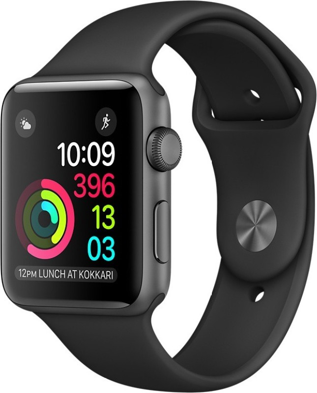 Apple Watch Series 1 - 38 mm Space Gray Aluminium Case with Black Sport Band(Black Strap)