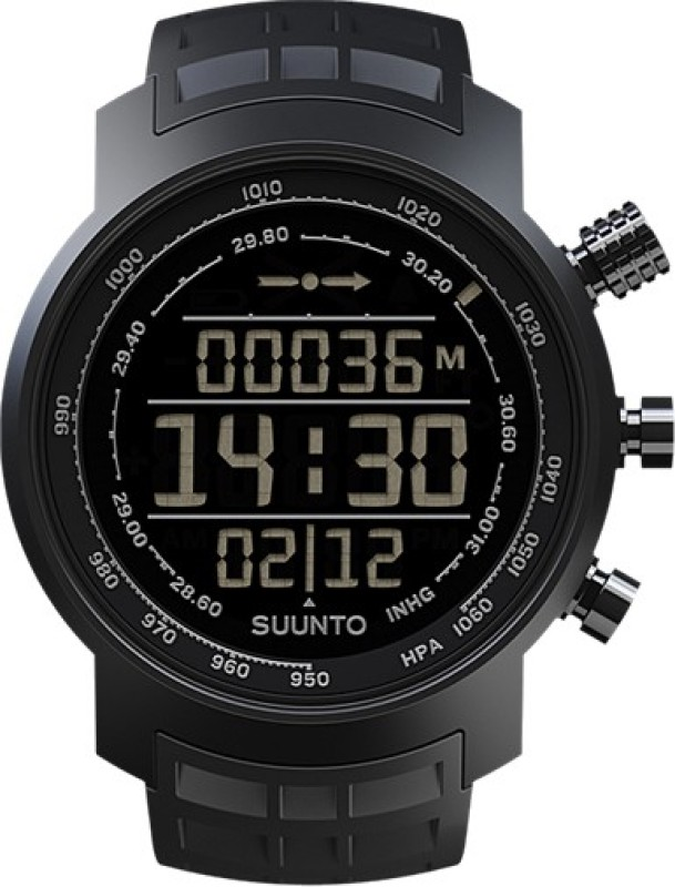 Suunto SS016979000 Elementum Terra Digital All Black Smartwatch(Black Strap)