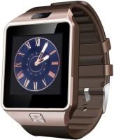 Aomax DZ09 With Sim GOLD Smartwatch(Brown Strap Regular)