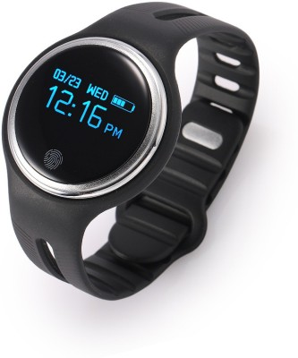 FLIPFIT Fitness Band 2 MODES (CYCLING AND WALKING ) CALL NOTIFICATION 3D Pedometer Calorie tracker touch button (Can be weared as necklace ) for swimming Black Smartwatch