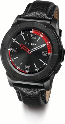 Titan Juxt Pro Black Smartwatch(Black Strap Regular) at flipkart