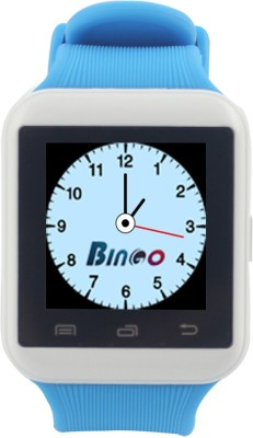 Bingo U8S With Remote Photo Function Support Bluetooth - White & Blue Smartwatch
