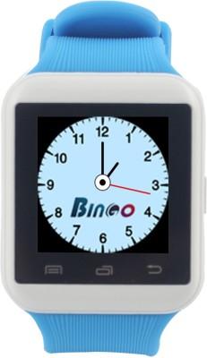 Bingo U8S With Remote Photo Function Support Bluetooth - White & Blue Smartwatch