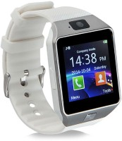 Noosy DZ09-2 Bluetooth with Built-in Sim card and memory card slot Compatible with All Android Mobiles White Smartwatch(White Strap Regular)