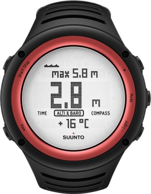 Suunto SS016788000 Core Digital Black & Lava Red Smartwatch(Black Strap) at flipkart