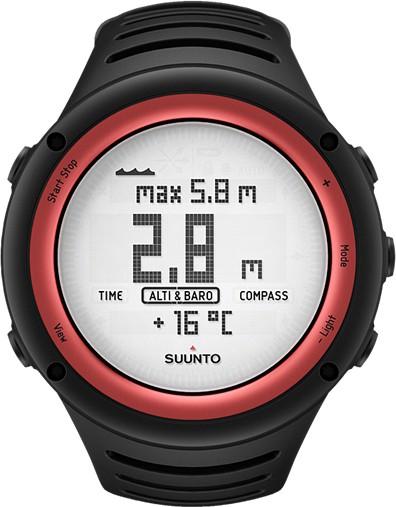 Suunto Core Black & Lava Red Smartwatch(Black Strap Regular)
