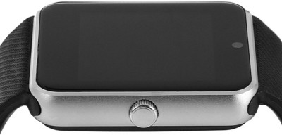 Influx ™ GT08 Bluetooth Smartwear Mobile Phone GSM SIM Card Silver Smartwatch(Black Strap Regular) at flipkart