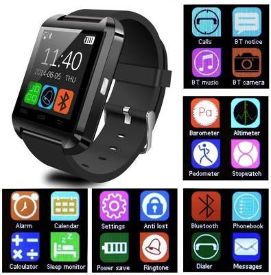 SHOPCRAZE U8 Smartwatch For All Devices Smartwatch(Black Strap Regular) at flipkart