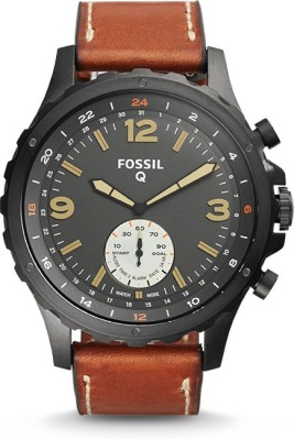Fossil Q Nate Hybrid (For Men) Smartwatch(Brown Strap)