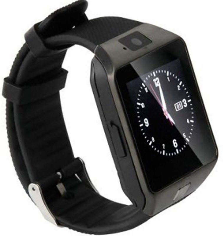 Hari Krishna Enterprise Sim Black Smartwatch(Black Strap)