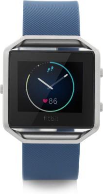 Fitbit Blaze Smart Blue & Silver Smartwatch(Blue Strap Large)
